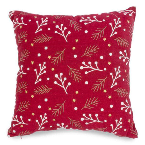 Red Holly and Berry Decorative Holiday Cushion 18 by 18