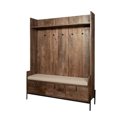 Rustic Glenn V Mud Room Seated Storage Nook  200lbs