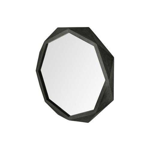 ARAMIS I Geometric Mirror Black 32 x 32 inches by Mercana