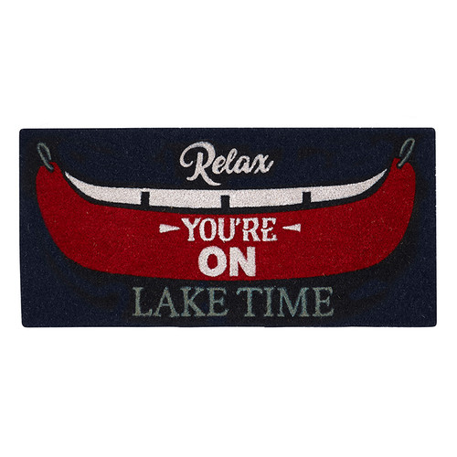 Relax You're on Lake Time Coir Mat extra long at 40 inches