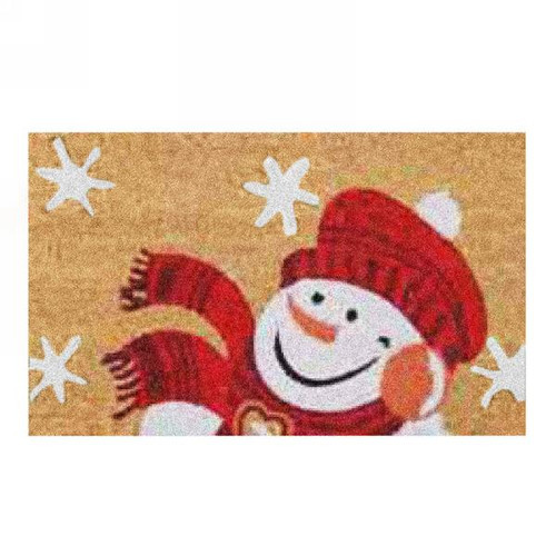 Jolly Frosty the Snowman Colourful Coir Entrance door porch mat