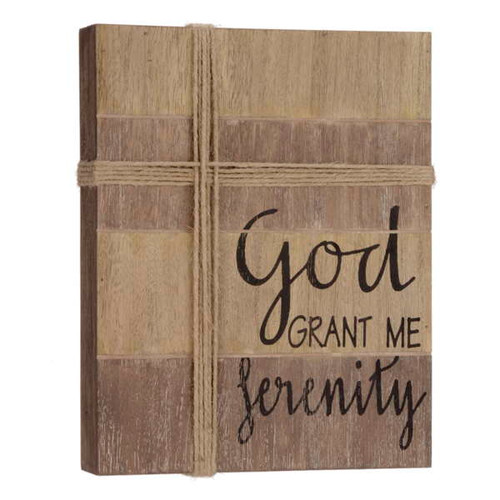 God grant me Serenity Plaque