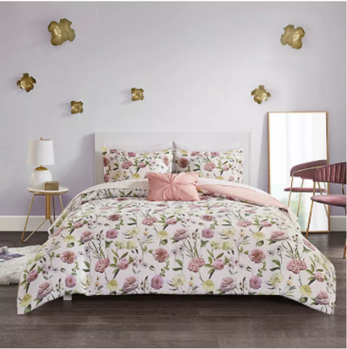 Eva Queen Floral 8 pc Comforter Set