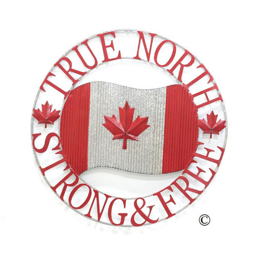 100cm/39 inches Oversized Canadian Pride Metal Round