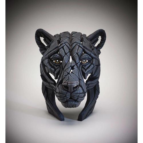 Matt Buckley Black Panther Bust Head Edge Sculpture 15 inches