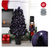Black fiber optic Christmas tree