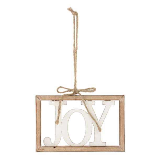 Joy Wooden Ornament