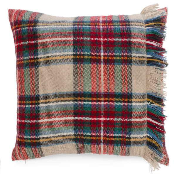 Free shipping from Giftopolis Canada on this fringed plaid pillow September 1st to December 10th