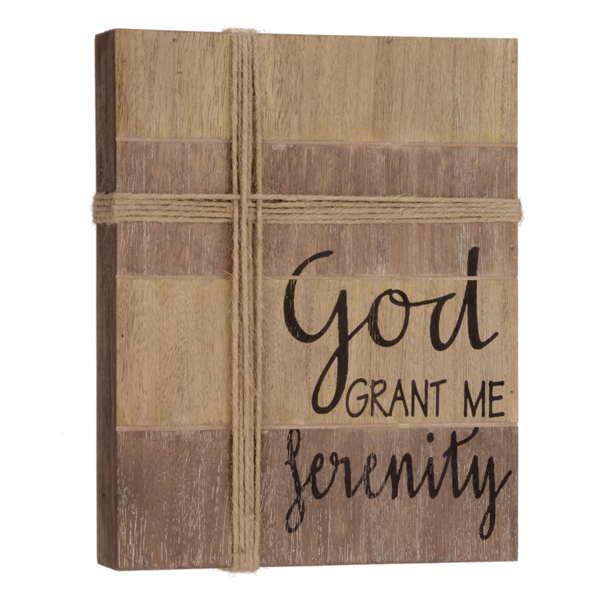 God grant me Serenity Plaque