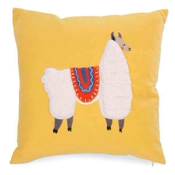 My pet lama fun and colourful decorative throw cushion pillow