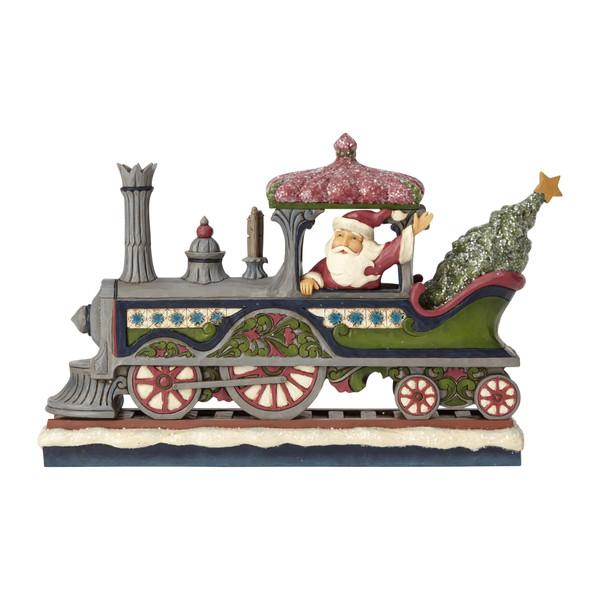 Jim Shore Victorian Santa on Train