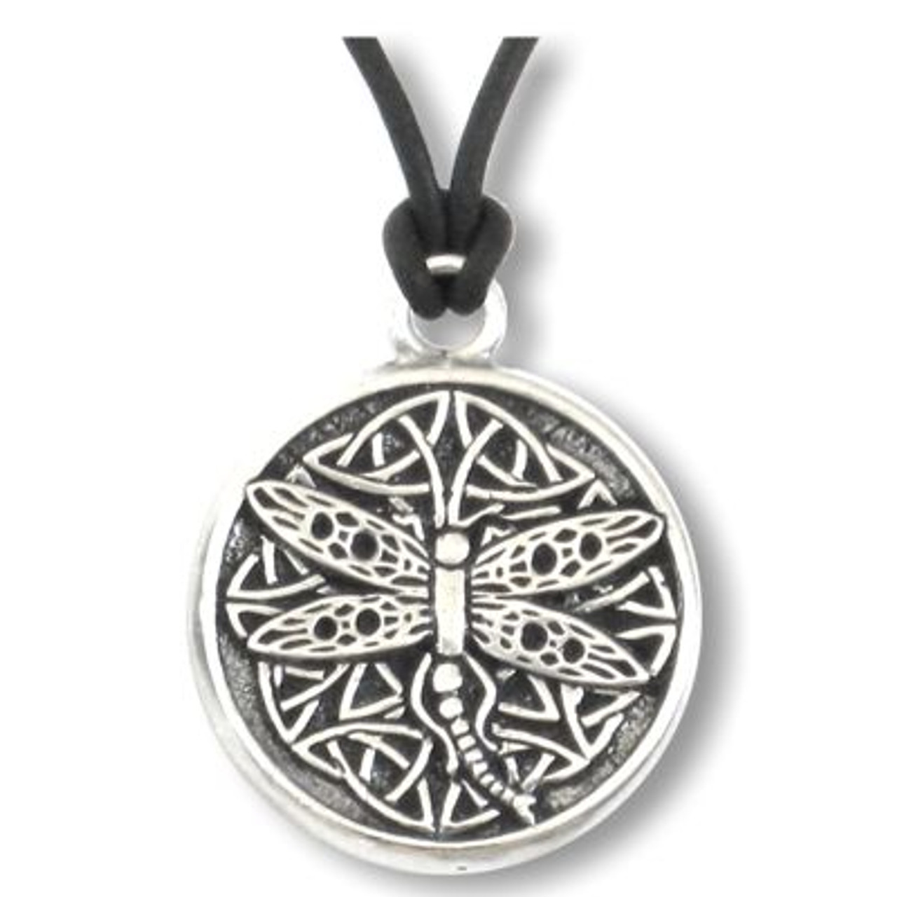 Celtic Dragonfly Spirit Wisdom Pewter Necklace