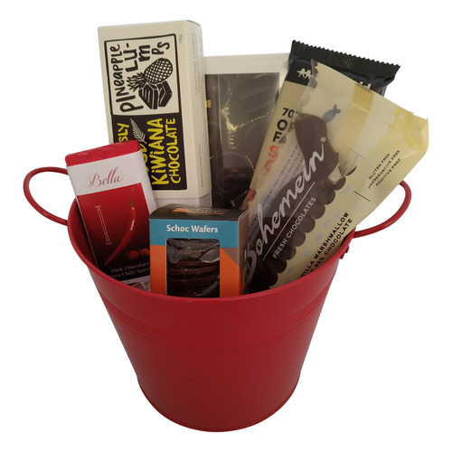 A Bucket of amazing New Zealand Chocolate.