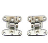 Chrome-plated separating hinges.