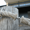 48mm Hempex Rope used as barrier rope.
