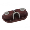 Tufnol cam cleat with stainless steel eye