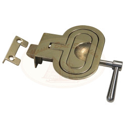 Brass Hatch Lifter with Catch