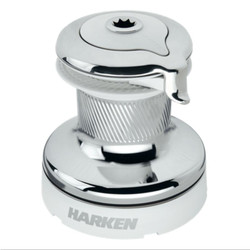 Harken HARKEN Radial Self-Tailing Winch - Chrome, White, 3 Speed