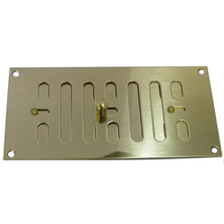 Brass Rectangular Hit & Miss Vents - Slide