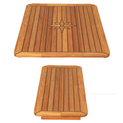 Teak Table Top - Long - Nautic Star - Sliding