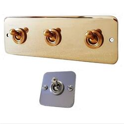 Brass Switch Panels - Traditional