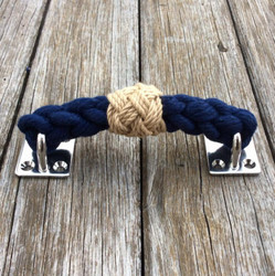 Rope Draw Pull Handle - Navy Blue