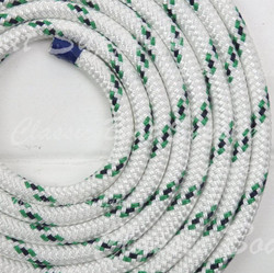 Hamilton Double-Braided Polyester Rope - 10mm Green/Black Fleck (per metre)