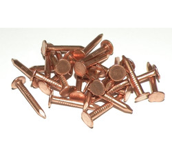 Copper Sheathing Nails - Flat Head Round Shank (per 100g)