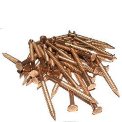 Flat Head Silicon Bronze Nails 60mm x 3.25mm (per 100g)