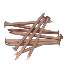 Copper Nails - Flat Head Square Shank 6g (per 100g)