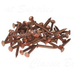 Copper Nails - Flat Head Square Shank 16g (per 100g)