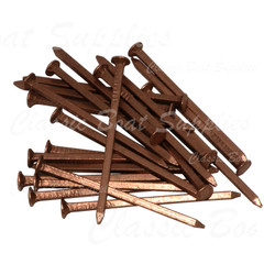 Copper Nails - Flat Head Square Shank 12g (per 100g)