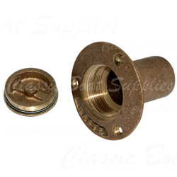 Bronze Deck Filler Cap - Waste - Open
