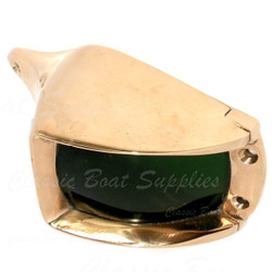 Polished bronze navigation light - starboard