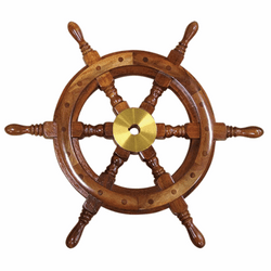 Teak Steering Wheel 450mm