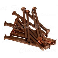 Square copper boat nails
