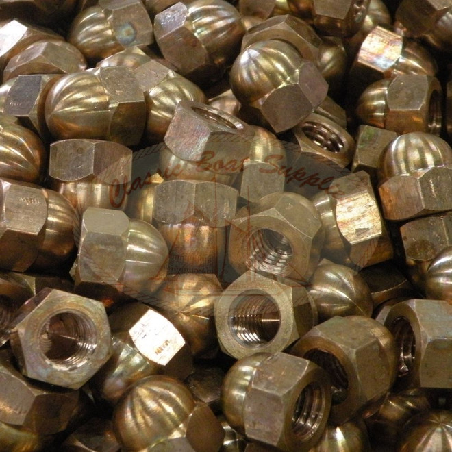 """1//4/"""" through 1/"""" Silicon Bronze Hex Nuts Marine Grade Hex Finished Nuts"""