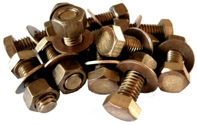 Silicon Bronze Hex Bolt 3/8""