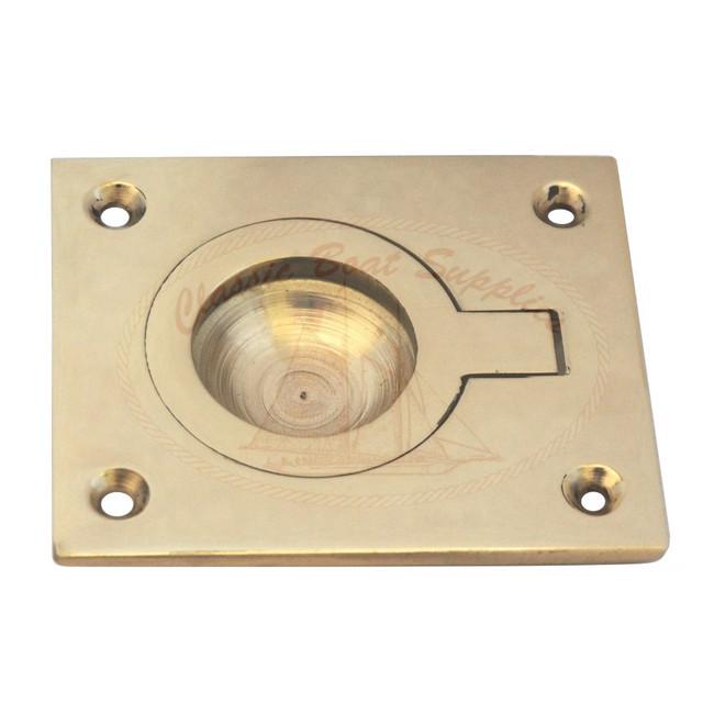 Rectangular Brass Hatch Ring