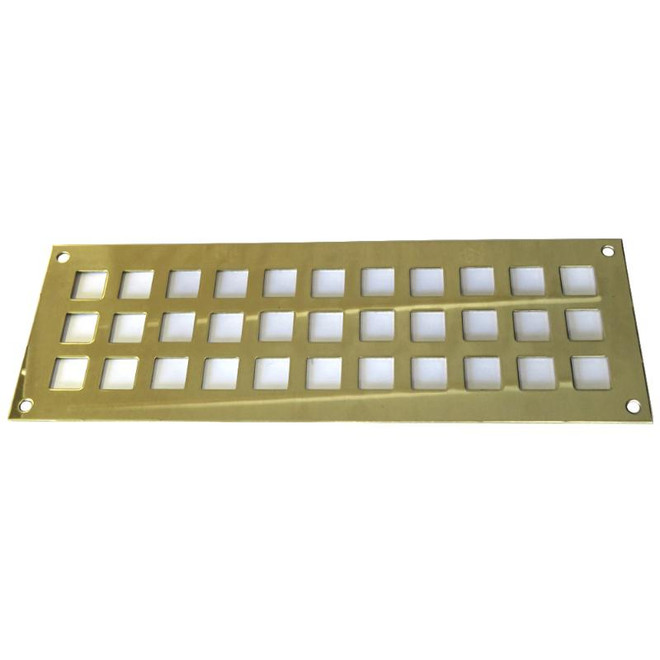 Brass Rectangular Vents - Square Holes