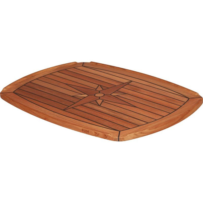 Teak Table Top - Half Elipse
