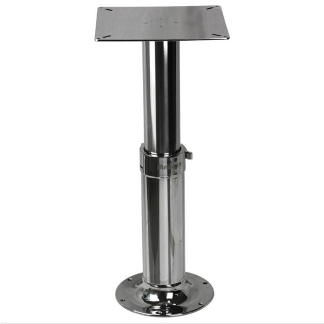 Table Pedestal - 2 Stage Stainless Steel