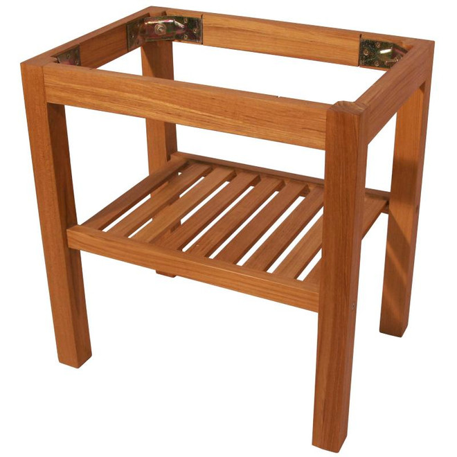 Teak Table Legs with Shelf