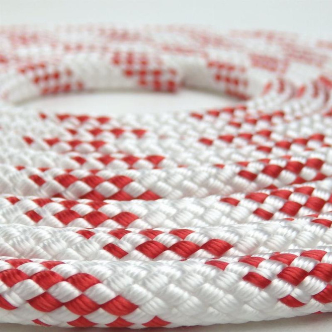 Newport Double-Braided Polyester Rope - Red Fleck (per metre)