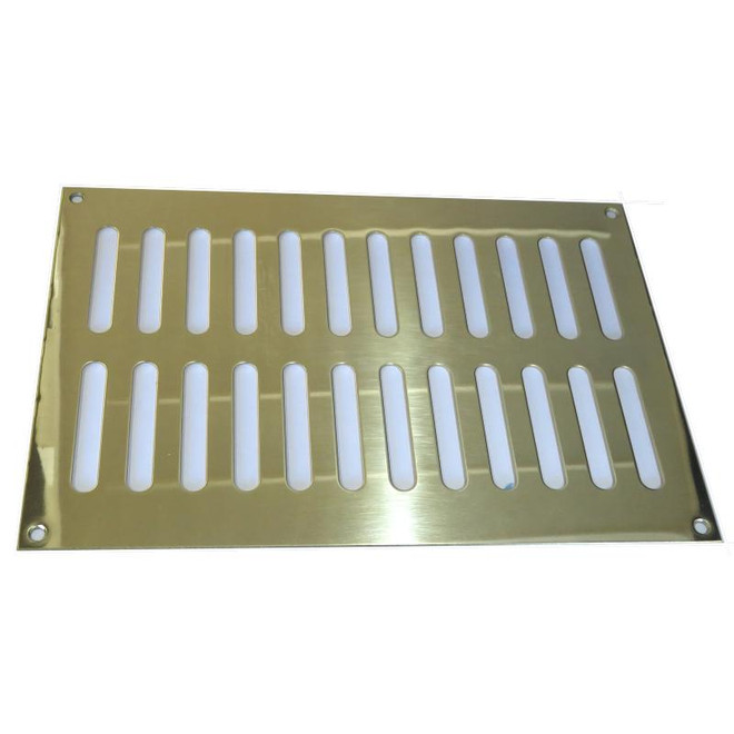 Davey and Company Brass Rectangular Vents - Oblong Slots
