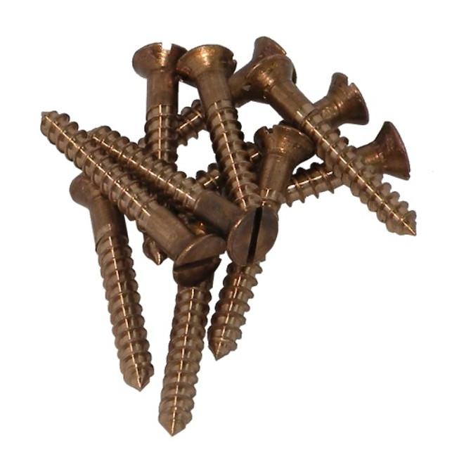 12 gauge countersunk bronze screws