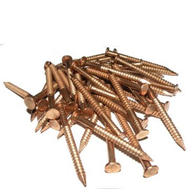 Silicon bronze gripfast nails