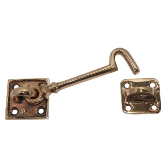 Securit Cabin Cleat Hook & Eye Lock Door Latch Brass Silent Type Majsterkowanie