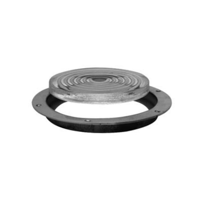 Davey bronze deck prism - rippled