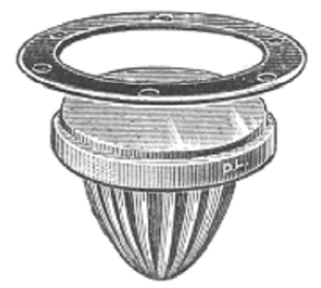 Round deck prism - melon